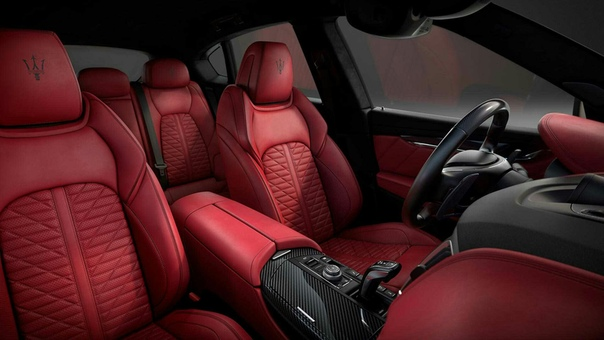 Maserati сделал чёрно-красный Levante Vulcano. Матовый кузов серого цвета и салон, отделанный сочетанием красной кожи и чёрной нити или же чёрной кожи и красной нити это новая версия кроссовера