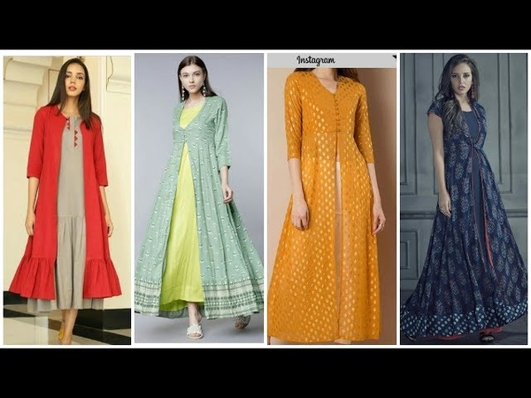 Open Designer Chiffon Shrugs Long Anarkali Gown Maxi Frock Designs Party n casual