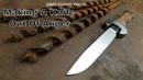 Forging A Knife From Auger Drill Bit