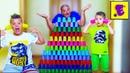 Егорка Ярик и Папа Играют с ЦВЕТНЫМИ Стаканчиками