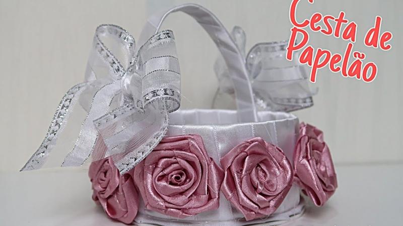 Cesta para Daminhas de casamento artesanato