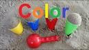 Учим цвета на английском языке для детей делаем мороженное из песка