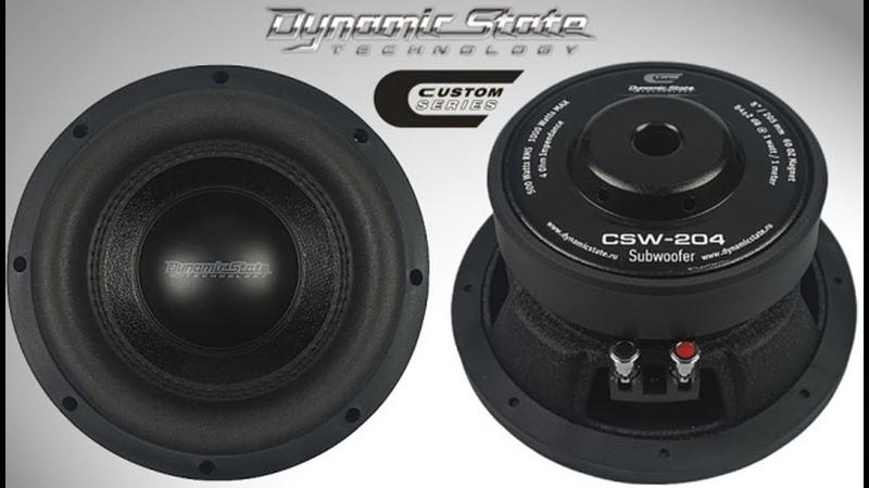 Dynamic State CSW 204 CUSTOM Series сабвуфер 8, распаковка, обзор