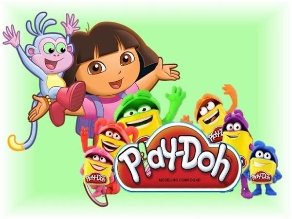 Play doh with Dora Плэй до и Даша путешественница Dora