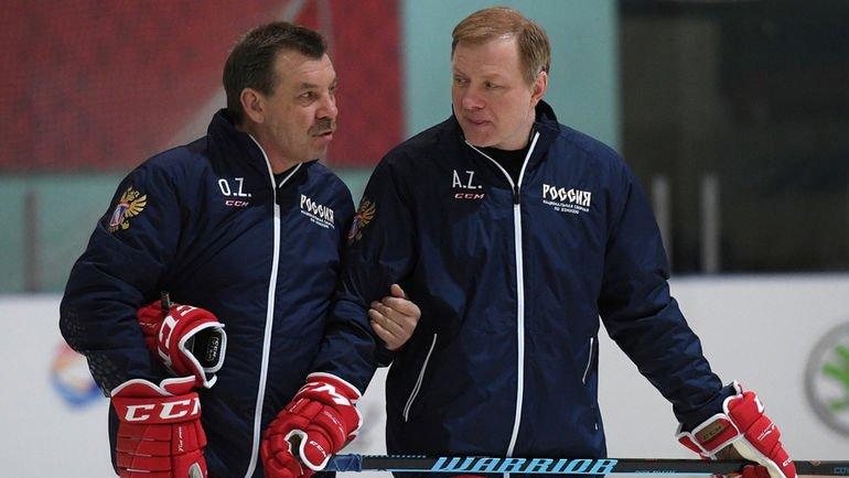 Олег Знарок и Алексей Жамнов