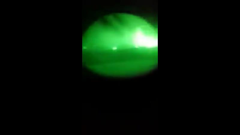 Видео из танка Т90 в районе боев на севере Хама