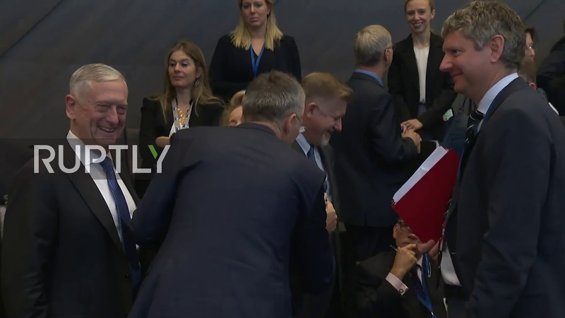 Belgium Stoltenberg delivers opening remarks at NATO Defence Ministers meeting