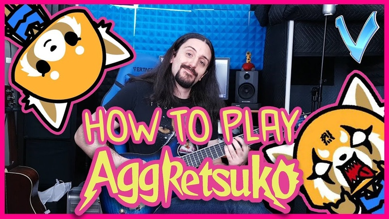 How to Play with V Aggretsuko Theme on Guitar