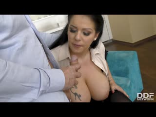Anissa jolie - the big busty surprise / дед трахает секретаршу [anal, big ass, big tits, cum on tits, natural tits, stockings]