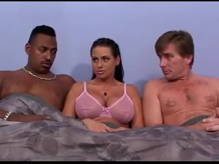 Interracial threesome with big tits milf harley raine