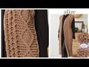 🔴Puffy Fine ile desenli uzun yelek - Patterned Long Vest w/ Alize Puffy Fine