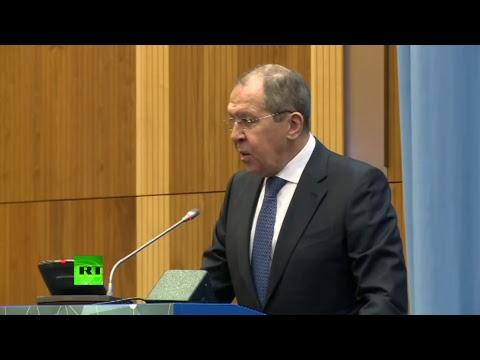 Лавров выступает на министерском сегменте 62-й сессии КНС