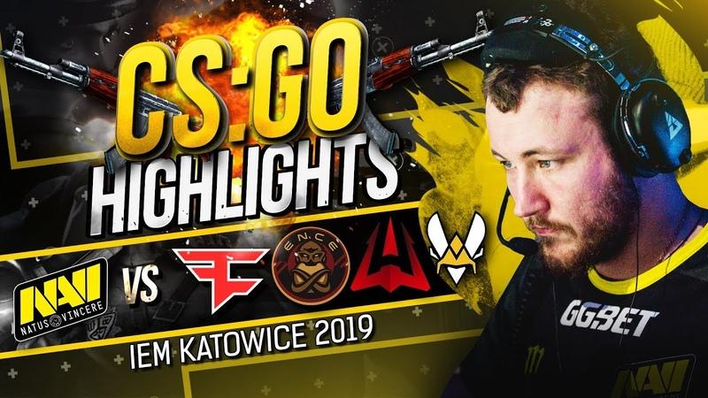 CSGO Highlights NAVI vs FaZe ENCE AVANGAR Vitality @ IEM Katowice 2019