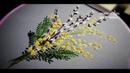 Flower embroidery Spring bouquet Цветочная вышивкаВесенний букет