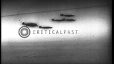 B-25 aircrafts of US Army Air Force in formation in Tunisia. HD Stock Footage