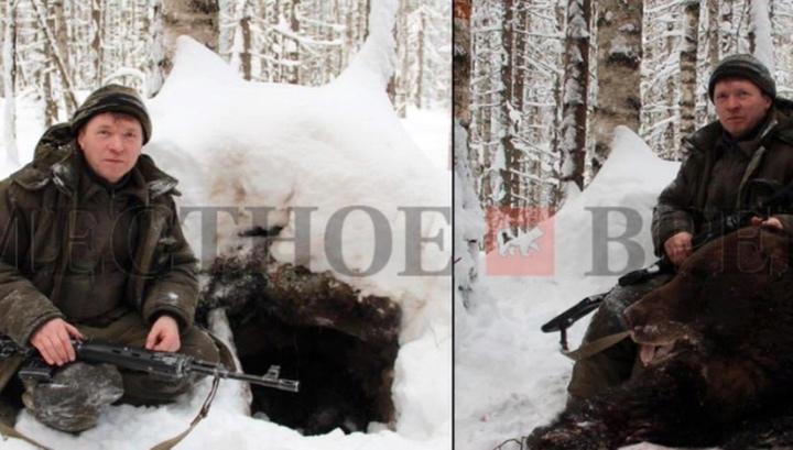 Чиновник на убитом медведе СКР заинтересовался скандальными фото