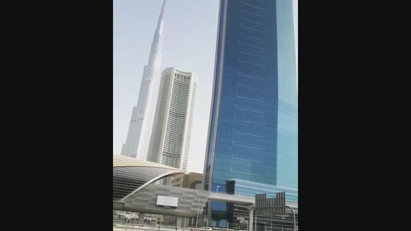 ШЕFF возле Бурдж-Халифа (Небоскреб в Дубае, Объединённые Арабские Эмираты). (2019 г.) (видео)