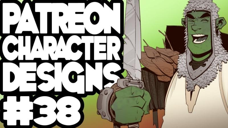 Patreon Character Designs 38 - Warp Knight / Orc Paladin