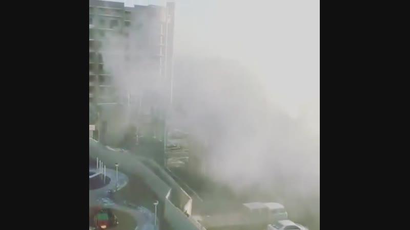 ЖК Параллели - дым от близлежащей котельной идет на детскую площадку