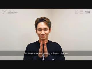 181228 ¡key de shinee saluda a sus fans chilenos! - smtown live in santiago 2019