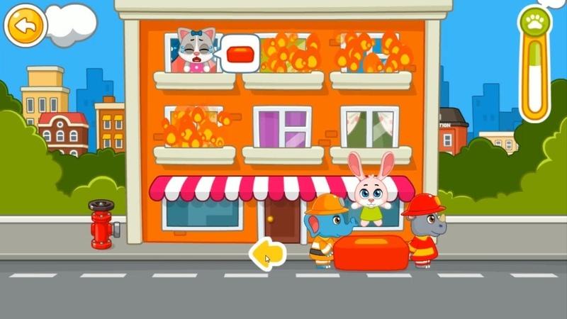Спасательный Патруль Пожарные Машины Тушим Пожар Игра Для Детей