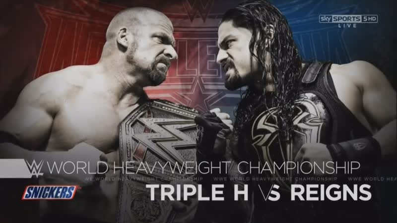 WWE Mania WrestleMania 32 Triple H c vs Roman Reigns WWE World Heavyweight Championship