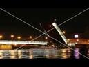 Разводка Литейного моста. Петербург. Таймлапс. Футаж