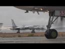Взлеты стратегических ракетоносцев Ту-95МС и истребителей Су-35С в дни маневров «Восток-2018»