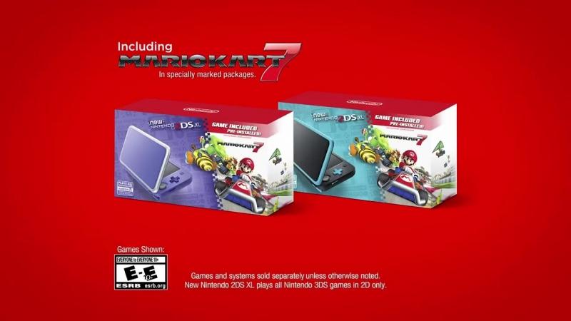 Introducing the New Nintendo 2DS XL Mario Kart 7 Bundle