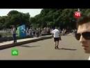 Расплескалась синева_ пьяный напал на корреспондента НТВ в прямом эфире