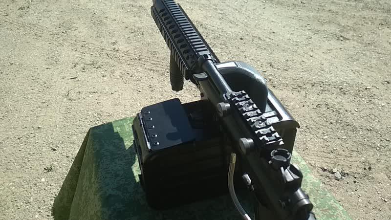 стрельба из пулемёта Дрозд