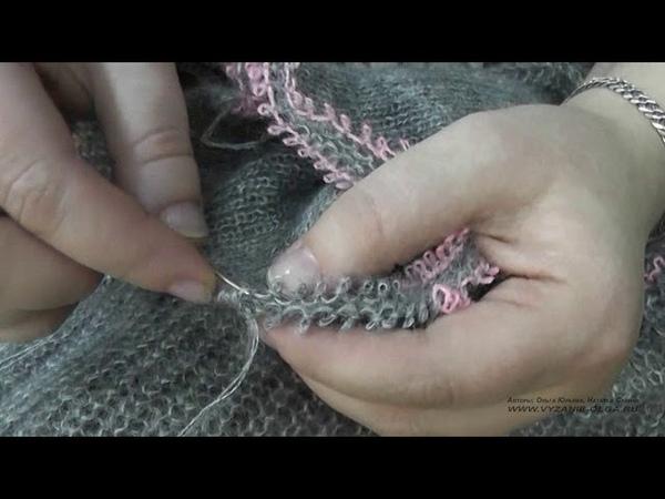 КАК ЗАКРЫТЬ ЦЕЛЬНОВЯЗАННЫЙ ВОРОТНИК Машинное вязание