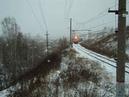 Белый пепел ВЛ11М 421 с пригородным поездом Алапаевск Екатеринбург Пасс и приветливой бригадой