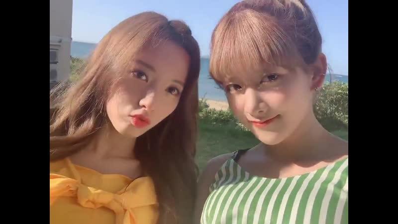 [우주소녀 엑시] 쨔잔 뮤직비디오 촬영장 비하인드 ㅋㅋㅋㅋㅋㅋ 3.룸메와 날 좋은날^.~