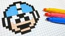 Handmade Pixel Art - How To Draw Megaman pixelart