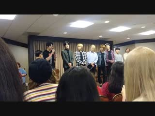 Baikals Introductions at fanmeet in Houston