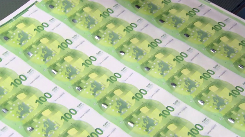 Proceso de impresión de los nuevos billetes de 100€ y 200€