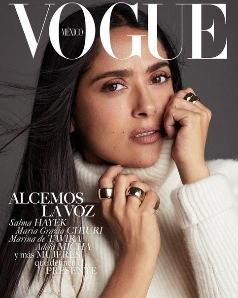 Salma Hayek Vogue Mexico, November 2018.