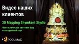 Световое шоу на свадебный торт от 3D Mapping Shymkent Stydio POGUMAX
