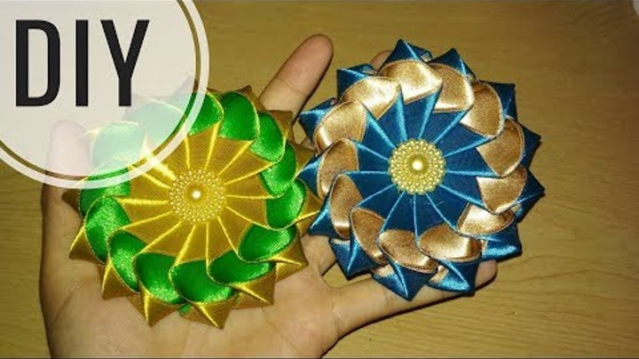 DIY || Cara Membuat Kanzashi Flower 03 🌸 - Tutorial Bros Simple by Lista Tsurayya