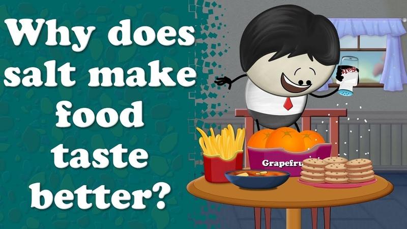 Why does salt make food taste better? | aumsum kids education science learn