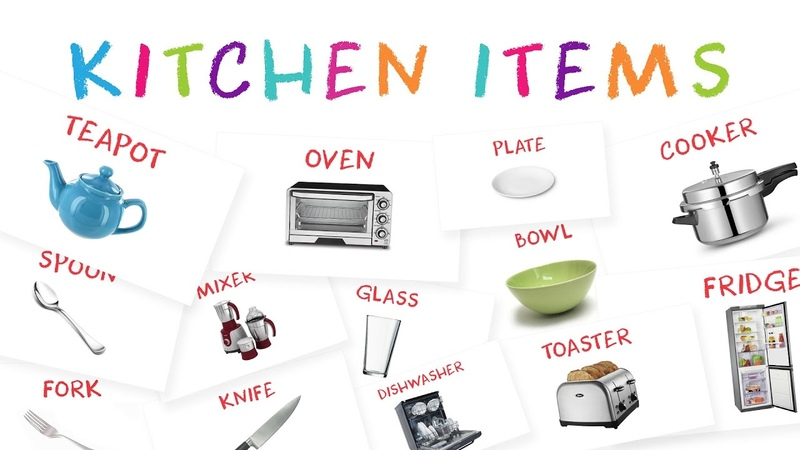 Learn Kitchen Item Names for Kids   Kids Learn About Kitchen Tools
