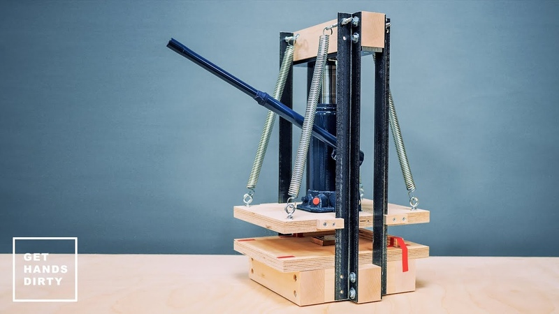 How to Make an Hydraulic Press for Paper Emboss and Print