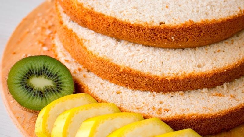 Очень вкусный фруктовый(манговый) Шифоновый бисквит - Я - ТОРТодел!