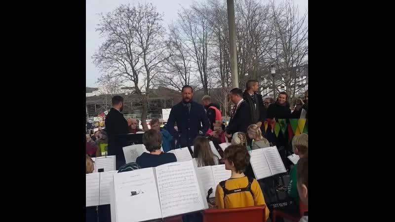 Kronprins Haakon besøkte Porsgrunn