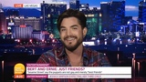 Adam Lambert on G M B live from Vegas 19092018