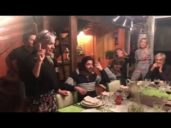 Salvador Sobral Caetano Veloso dinner in MesaLuisa 09-05-2018