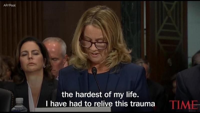 Доктор Форд предстала перед сенатской комиссией и свидетельствовала о том что случилось между ней и Кавано 35 лет назад на одно