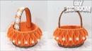 Foam sheet flower basket   How to make flower basket   DBB