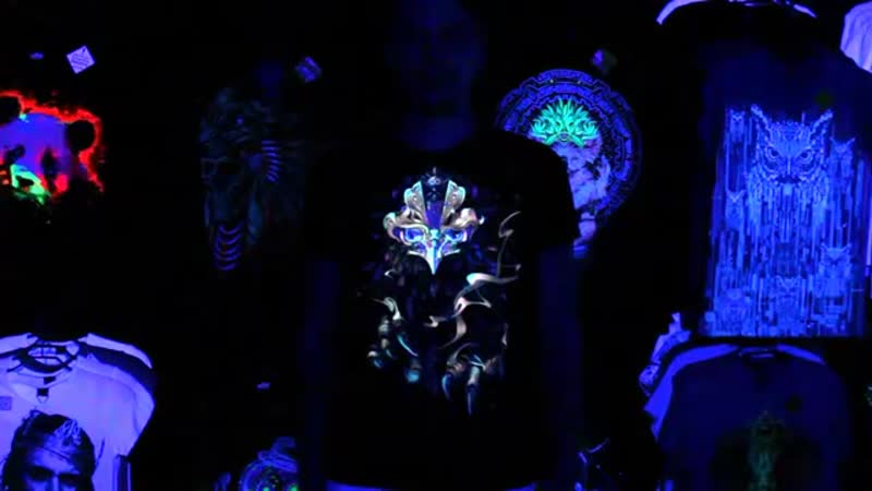 Светящиеся футболки GOOD fluro power Astral Phoenix Glow in the black light